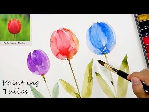 Paint Fast and Easy Tulips for Beginners