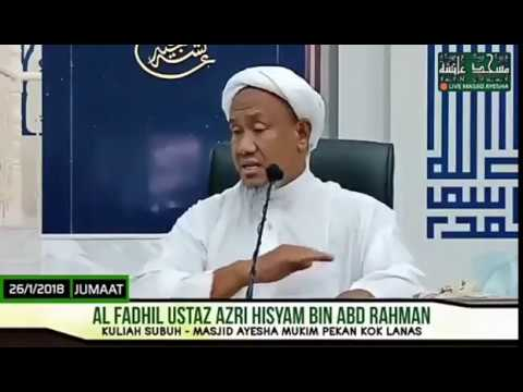 HUTANG :  Al Fadhil Ustaz Azri Hisyam Bin Abdul Rahman حفظه الله