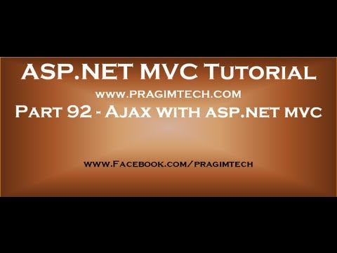 Part 92   Ajax with asp net mvc