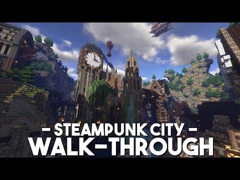 Steampunk City Walk-through | Minecraft Let's Build It!