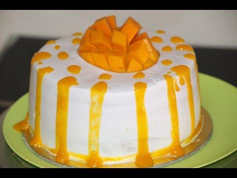 How To Make Eggless Mango Cake | Easy To Make Recipe in Hindi | Desi Zaiqa