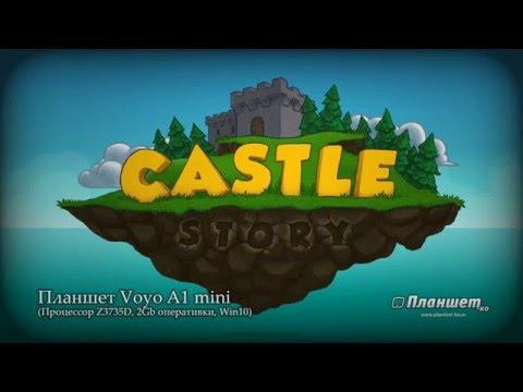 Играем Castle story на планшете Voyo A1 mini, tablet pc gameplay test