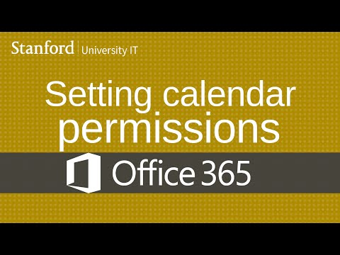 Setting calendar permissions in Office 365