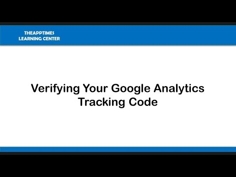 Verifying Your Google Analytics Tracking Code