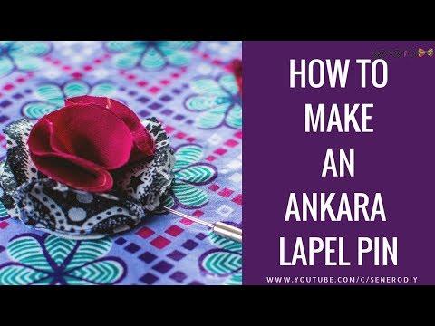 DIY How To Make An Ankara lapel pin (NO-SEW)