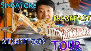 MIND BLOWING Singapore BREAKFAST Street Food Tour!