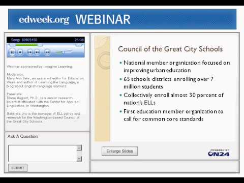 Webinar: Improving Literacy for English-Language Learners