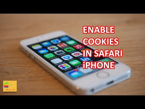 How to enable cookies in safari iPhone