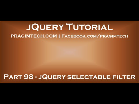 jQuery selectable filter