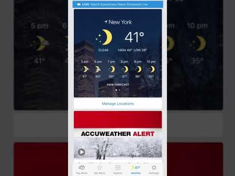 Eyewitness News App: How to customize weather
