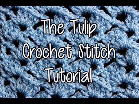 How to crochet the Tulip Crochet Stitch
