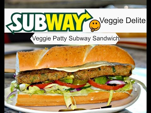 Subway Veggie Patty Sandwich | How To Make a Subway Sandwich | SUBWAY Veggie Delight