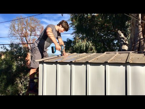 How to build a steel shed