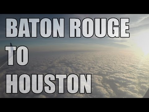 Baton Rouge to Houston - United Airlines Embraer ERJ-135 FULL FLIGHT | GoPro