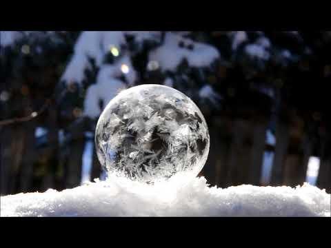 Soap Bubbles freezing.