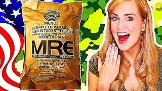 Irish Girl Tries American Military Food (MRE's)