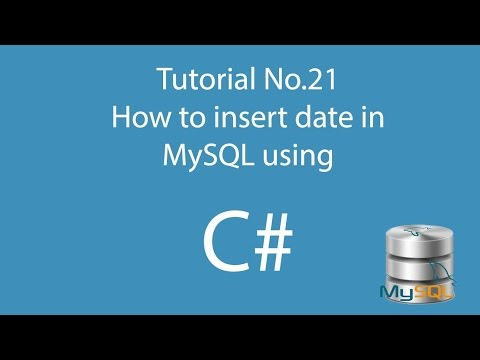 C# 21: How to insert date in Mysql using C#