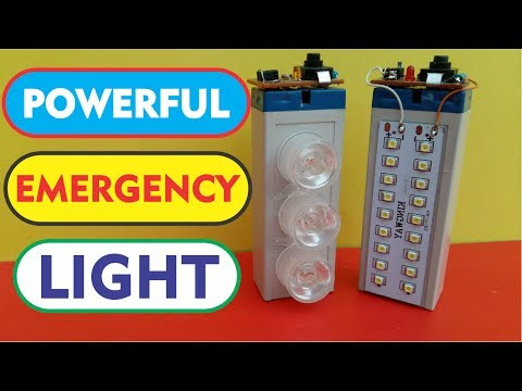 How to make a Rechargeable LED Emergency Light at home DIY Homemade LED Light