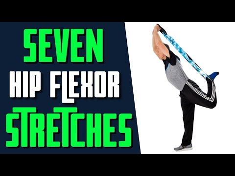 7 Best Hip Flexor Stretches to Decrease Pain & For People Who Sit All Day.