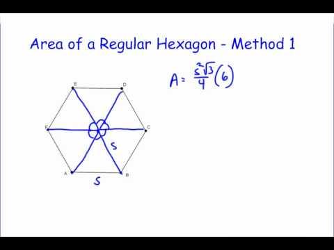 Area of a Regular Hexagon