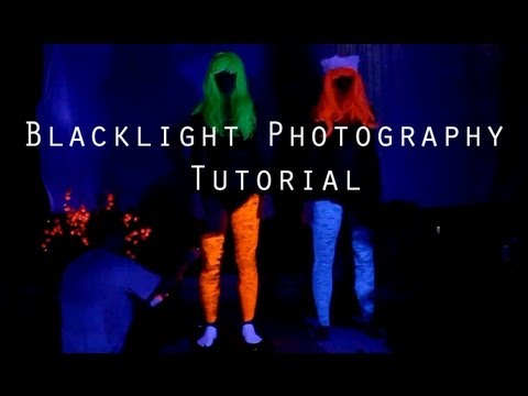 Black light Photography tutorial How to shoot with uv blacklight