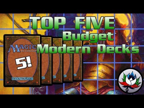 MTG – Top 5 BEST & Cheapest Competitive Modern Decks for Magic: The Gathering!