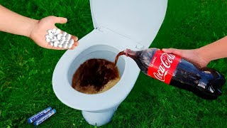 Experiment: Coca Cola and Mentos in the Toilet