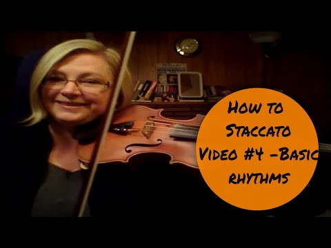 How to do Staccato #4 - Violin staccato technique in basic rhythms