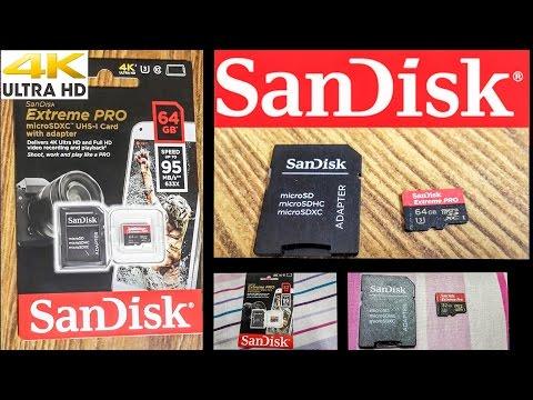 SanDisk Extreme Pro microSDXC UHS-I (U3) Class 10 Memory Card 64GB & 32GB - UNBOXING | India|#RCTech