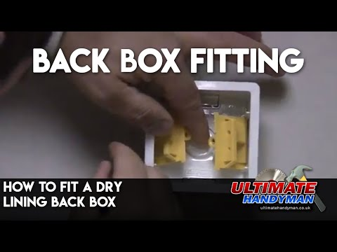 how to fit a dry lining back box