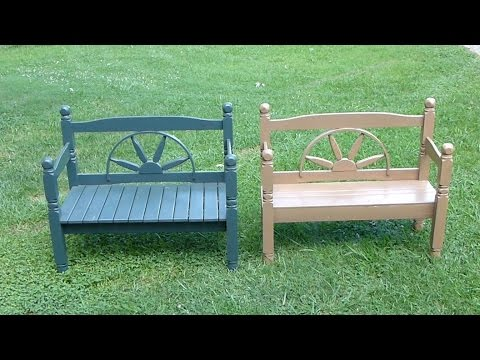 Bench made from Headboard and Footboard