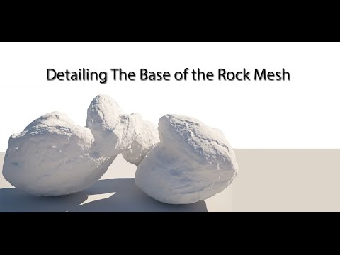 Sculpting a Detailed Rock Asset in ZBrush Part 2