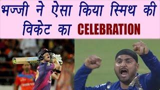 IPL 2017: Harbhajan Singh celebrates Steve Smith