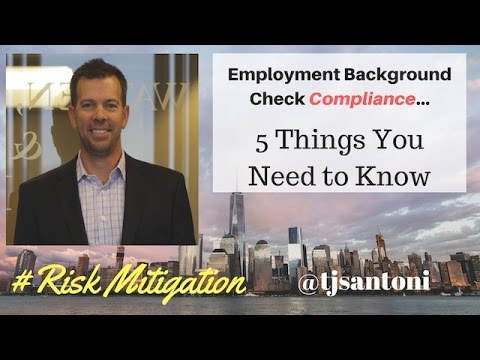 Employment Background Check Compliance - FCRA Compliance