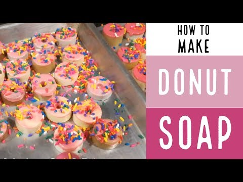 How to Make Soap Without Lye / Donut Soap /How To Make Soap