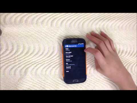 How to set a pattern for lock screen on SAMSUNG GALAXY S4