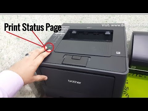 How To Print Test / Status Page on Brother HL5450DN