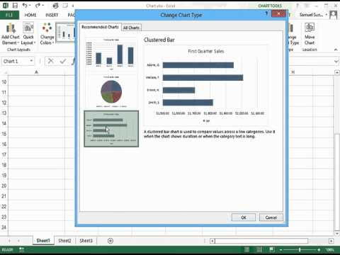 Changing Chart Type and Layout in Excel 2013