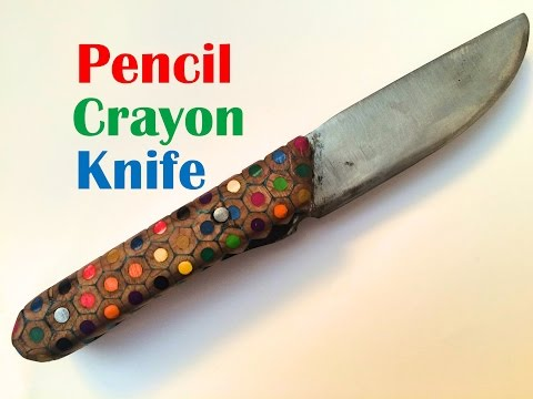 Pencil Crayon Handled Knife