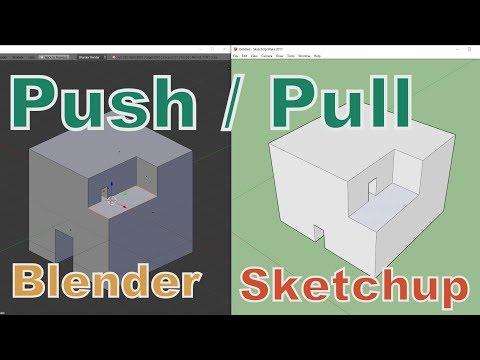 Push/Pull in Blender like in Sketchup (addon extrude and reshape)