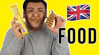 AMERICAN EATS BRITISH FOOD FOR THE FIRST TIME!!!