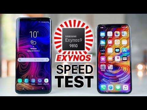 Galaxy S9 Plus Exynos vs iPhone X Speed Test! Wow..
