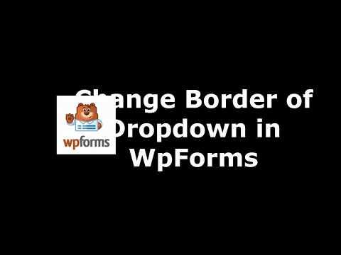 Best WordPress Plugin to Alter Drop Down Border in WpForms
