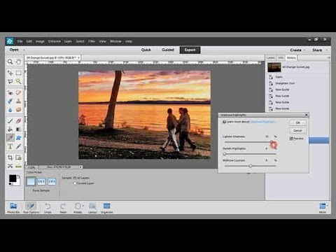 Photoshop Elements Tutorial 04 How to brighten a photo