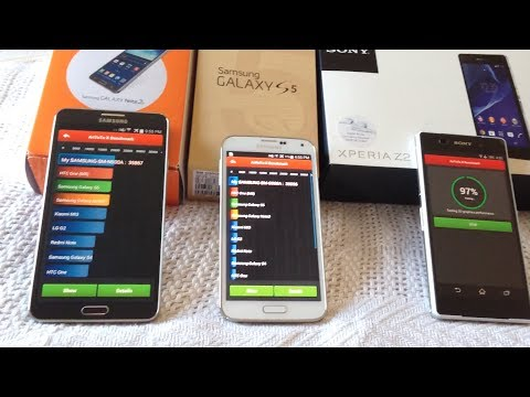 Xperia Z2 vs Note 3 vs Galaxy S5 - Benchmark Tests