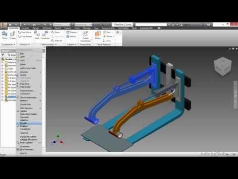 Autodesk Inventor - Advanced Assemblies Tutorial | Flexible Components