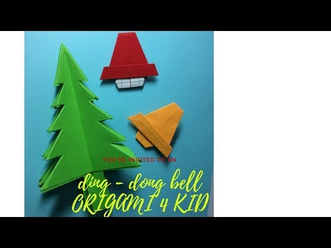 origami for KID-Origami - How to make a simple BELL for Christmas things)