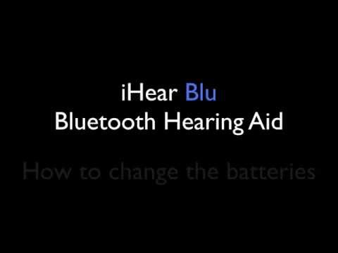 How to Change Hearing Aid Batteries iHear Blu Bluetooth Hearing Aid