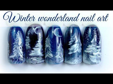 ❅ Winter wonderland Nail Design ❅ Christmas trees  #XmasWebinar