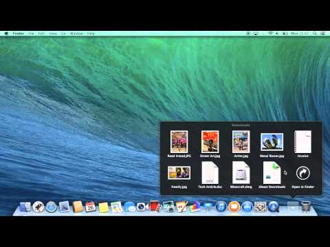 How to use Stacks in OS X Mavericks